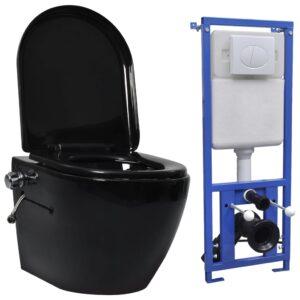 seinale kinnituv ääreta peidetud loputuskastiga WC-pott