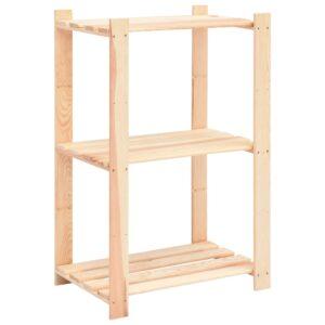 3-korruseline hoiuriiul 60 x 38 x 90 cm männipuit 150 kg