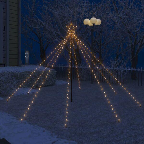 LED-valguskettidega jõulupuu õue 400 LEDi