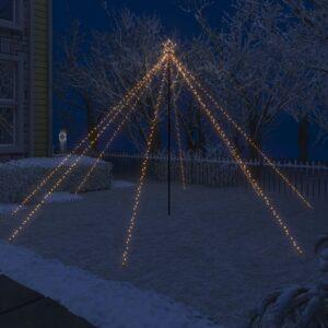 LED-valguskettidega jõulupuu õue 576 LEDi