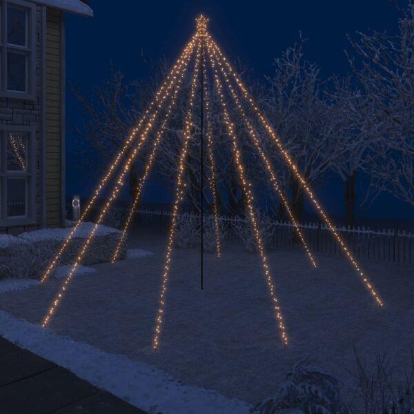 LED-valguskettidega jõulupuu õue 800 LEDi
