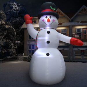 jõulukaunistus täispumbatav lumememm LEDiga IP44