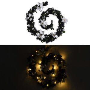 jõuluvanik LED-tuledega must