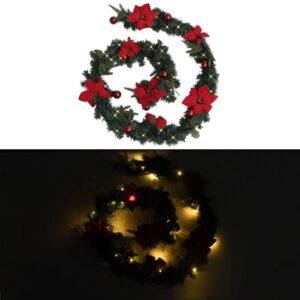 jõuluvanik LED-tuledega roheline