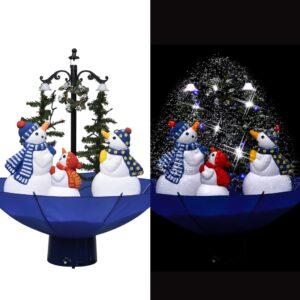 lumesajuga jõulukuusk vihmavarjualusega sinine 75 cm