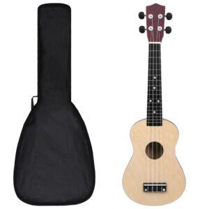 """sopran ukulele komplekt kotiga lastele hele puit 23"""""""