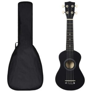 """sopran ukulele komplekt kotiga lastele must 21"""""""