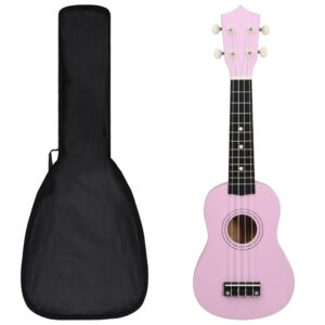 """sopran ukulele komplekt kotiga lastele roosa 21"""""""