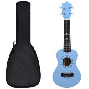 """sopran ukulele komplekt kotiga lastele sinine 21"""""""