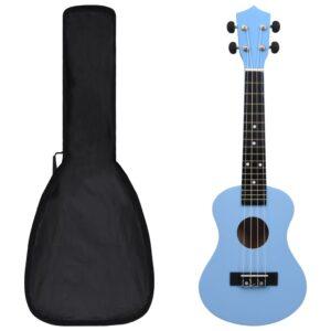 """sopran ukulele komplekt kotiga lastele sinine 23"""""""