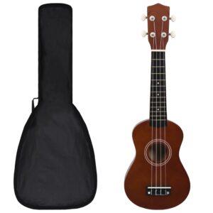 """sopran ukulele komplekt kotiga lastele tume puit 21"""""""