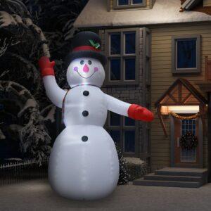 täispumbatav lumememm LEDidega