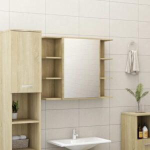 vannitoa peeglikapp Sonoma tamm 80x20