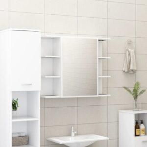 vannitoa peeglikapp valge 80 x 20