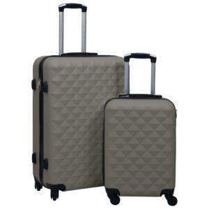 kõvakattega kohver 2 tk antratsiithall ABS