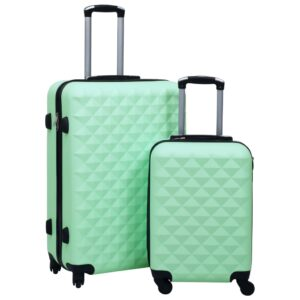 kõvakattega kohver 2 tk mündiroheline ABS