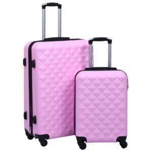 kõvakattega kohver 2 tk roosa ABS
