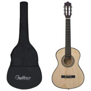 "klassikaline kitarr algajatele ja lastele kotiga 1/2 34"""