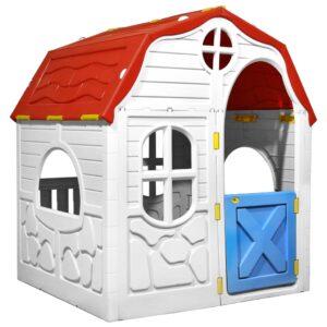 laste kokkupandav mängumaja töötava ukse ja akendega