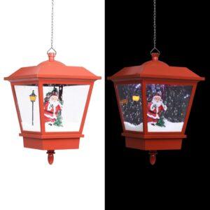 rippuv jõululamp LED-tule ja jõuluvanaga