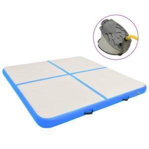täispumbatav võimlemismatt pumbaga 200x200x20 cm PVC sinine
