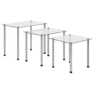 virnastatavad lauad 3 tk läbipaistev karastatud klaas