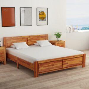 kahe öökapiga akaatsiapuidust voodiraam 160 x 200 cm
