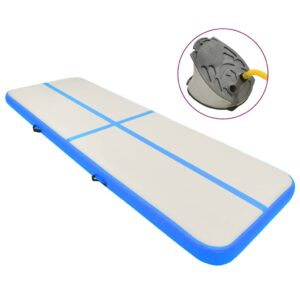 täispumbatav võimlemismatt pumbaga 400x100x15 cm PVC sinine