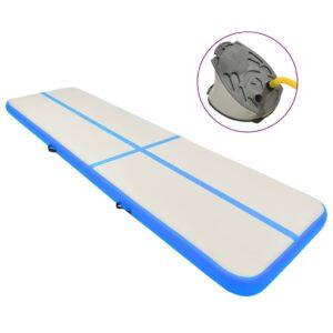 täispumbatav võimlemismatt pumbaga 800x100x20 cm PVC sinine
