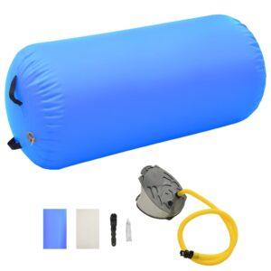 täispumbatav võimlemisrull pumbaga 120x90 cm PVC sinine