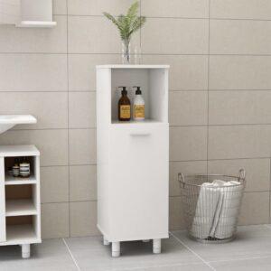 vannitoakapp kõrgläikega valge 30 x 30 x 95 cm puitlaastplaat