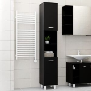 vannitoakapp must 30 x 30 x 179 cm puitlaastplaat