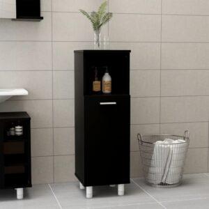 vannitoakapp must 30 x 30 x 95 cm puitlaastplaat