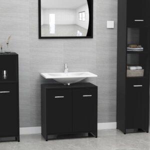 vannitoakapp must 60 x 33 x 58 cm puitlaastplaat