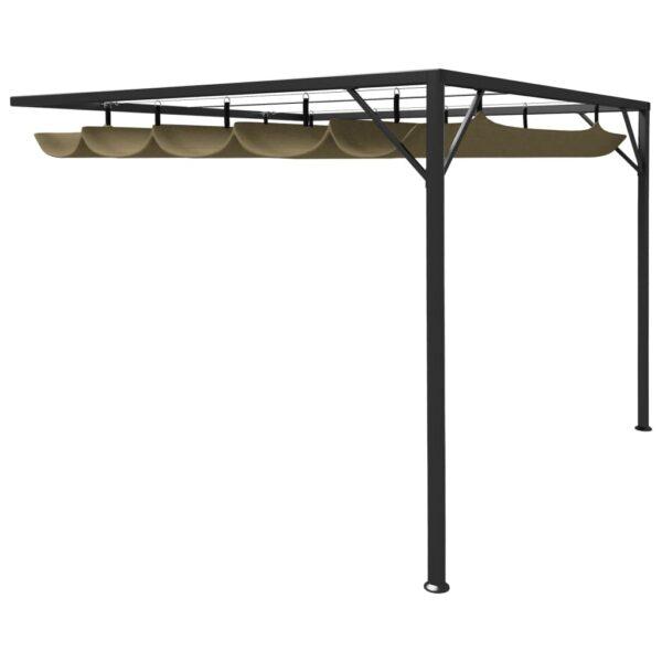 varjualus eemaldatava katusega 3 x 3 m