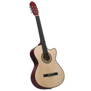 Western akustiline kitarr ekvalaiseriga 6 keelega