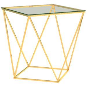 kohvilaud kuldne ja läbipaistev