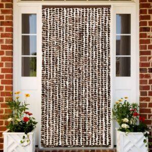 putukakardin pruun ja valge 90 x 220 cm šenill