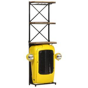 traktorikujuline veinikapp kollane 49 x 31 x 170 cm