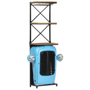traktorikujuline veinikapp sinine 49 x 31 x 170 cm