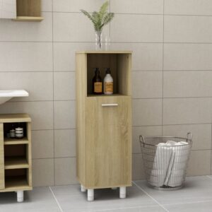 vannitoakapp Sonoma tamm 30 x 30 x 95 cm puitlaastplaat