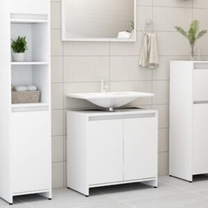 vannitoakapp valge 60 x 33 x 58 cm puitlaastplaat