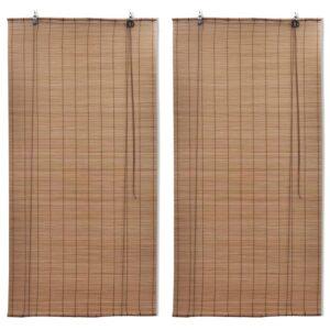 bambusrulood 2 tk pruun 120 x 220 cm