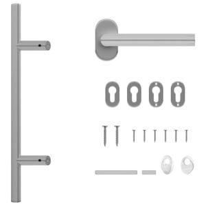 ukselingi ja ukseraami komplekt PZ 500 mm roostevabast terasest