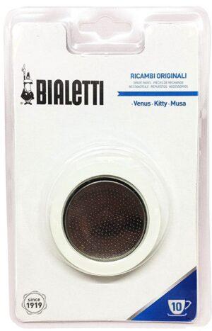1 silikoontihend + 1 filter Bialetti roostevaba teras 10 tassile