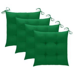 aiatooli istmepadjad 4 tk roheline 50 x 50 x 7 cm kangas