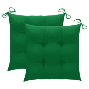aiatooli istmepadjad 2 tk roheline 50 x 50 x 7 cm kangas