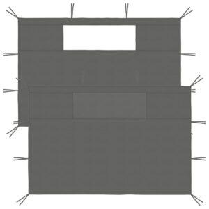 lehtla külgseinad akendega 2 tk antratsiithall