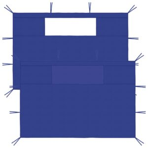 lehtla külgseinad akendega 2 tk sinine