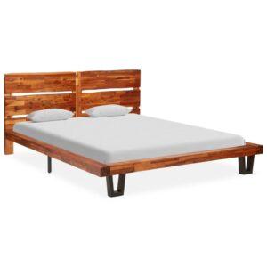 voodiraam loomuliku servaga akaatsiapuidust 160 cm